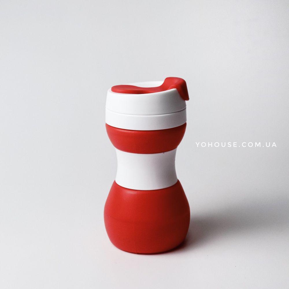 Складний стакан 500 мл (червоний)