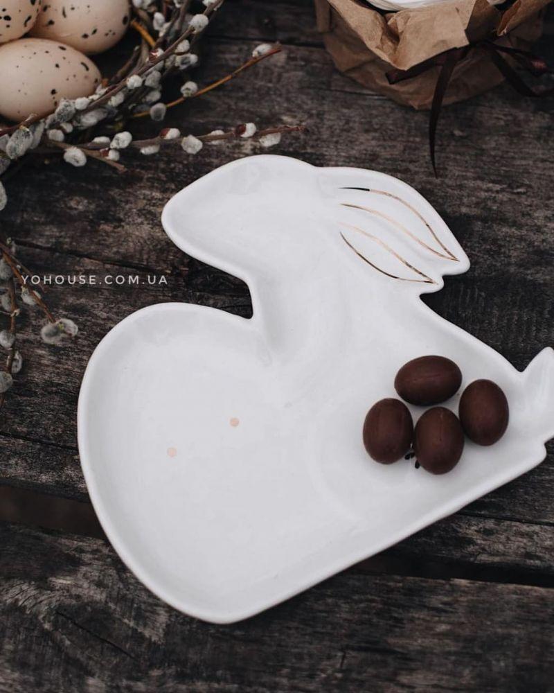 Блюдо кролик  23,8× 22,3×2,6см