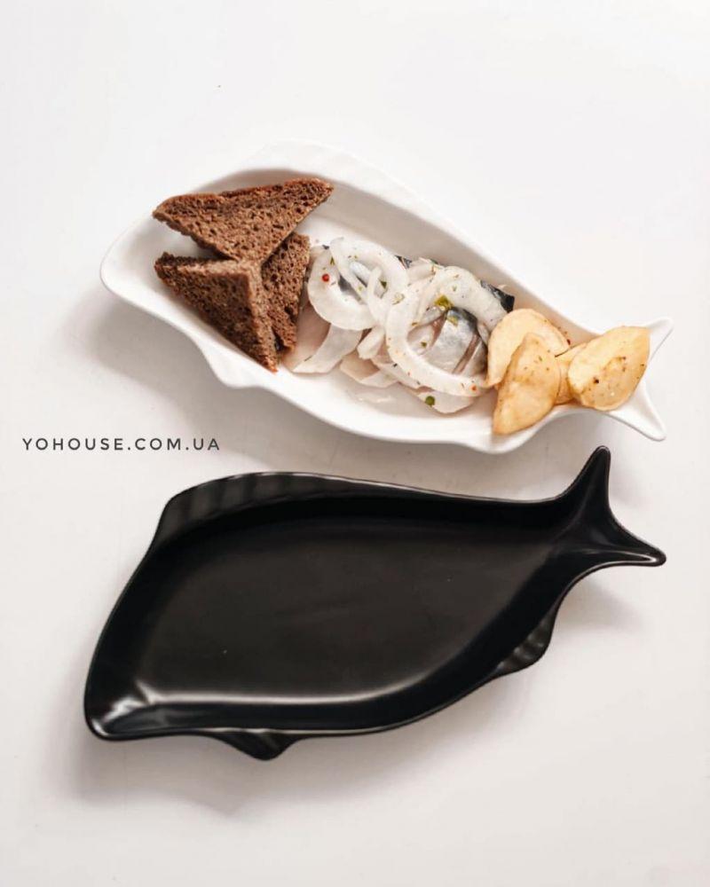 Блюдо рибка (чорне)